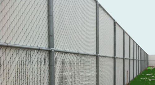 chain link fence with slots img