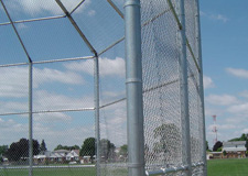 backstop chain link fence